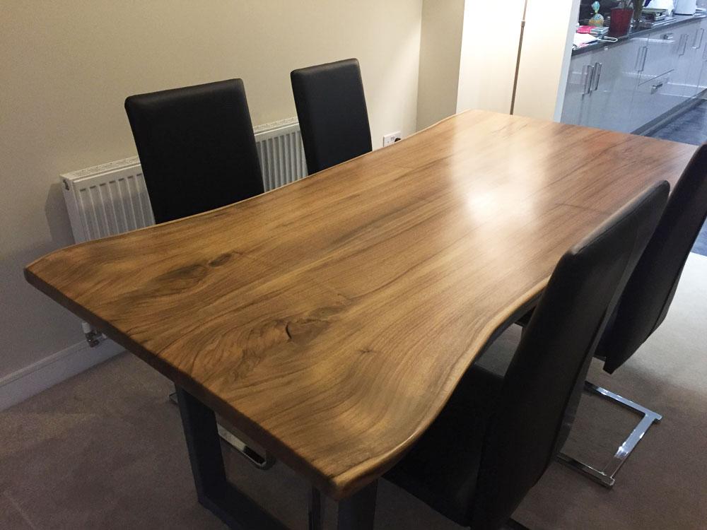 Waney Edge Walnut Dining Table