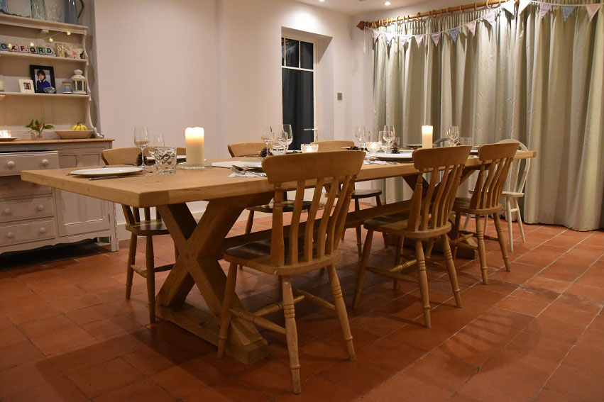 Bespoke Arts & Crafts Oak Dining Table