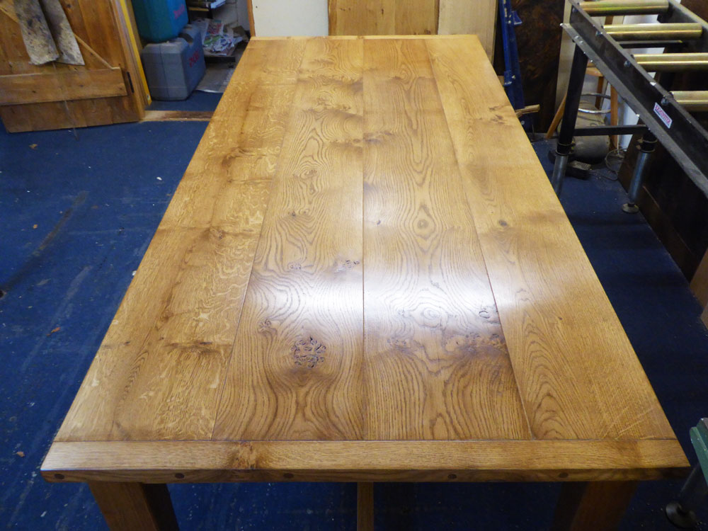 Bespoke Dining Table In Character Oak