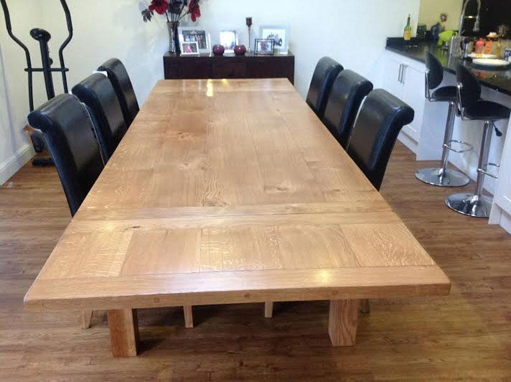 Large Oak Handmade Extending Dining Table