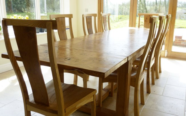 Handmade Extending Refectory Table Seats 8 to 12