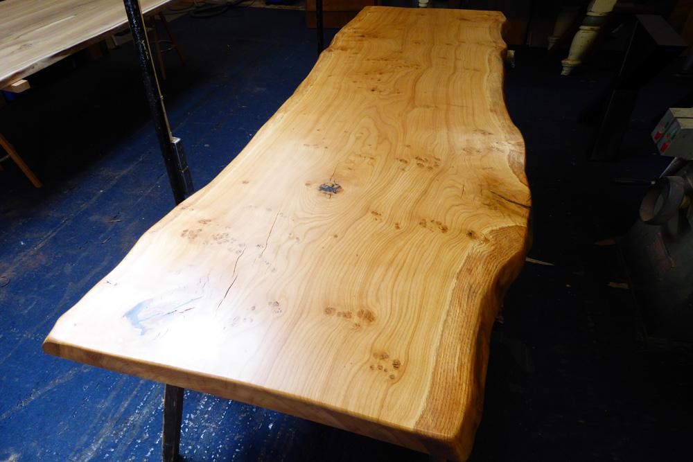 Handmade Live Edge Oak-Slab Table Top 2.6m x 950mm - 60mm top