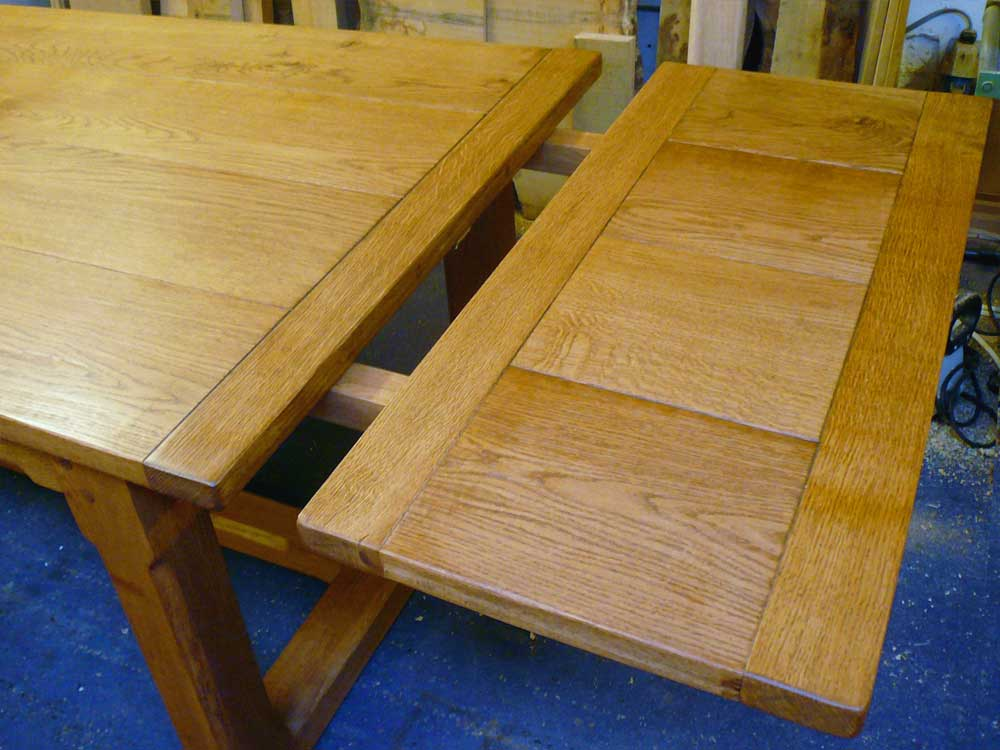 Bespoke Oak Extending Refectory Table – Extensions