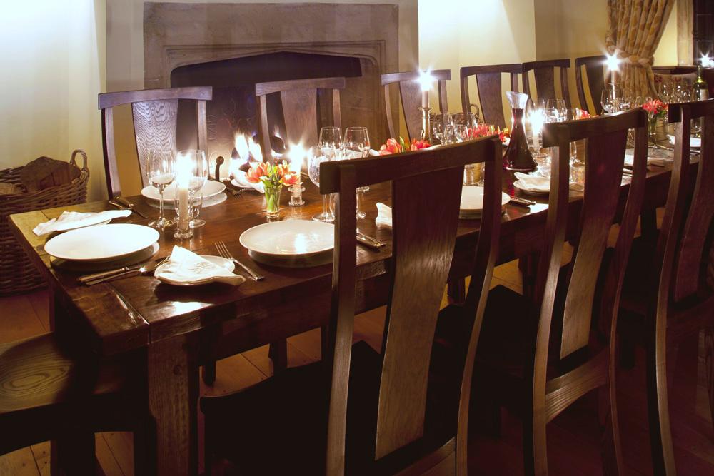 Bespoke Refectory Table in situ
