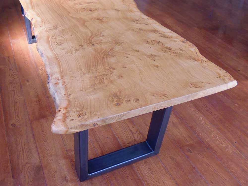Handmade Waney Edge Slab Table Top in Pippy Oak