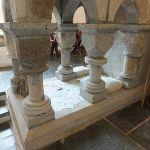 Prayers beneath shrine