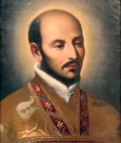St Ignatius of Loyola. Painting from Touchstones Gallery, Rochdale.