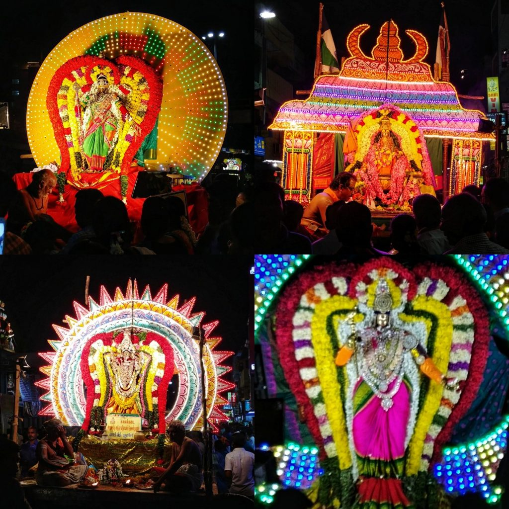 Temple deities at Maasi Margam festival