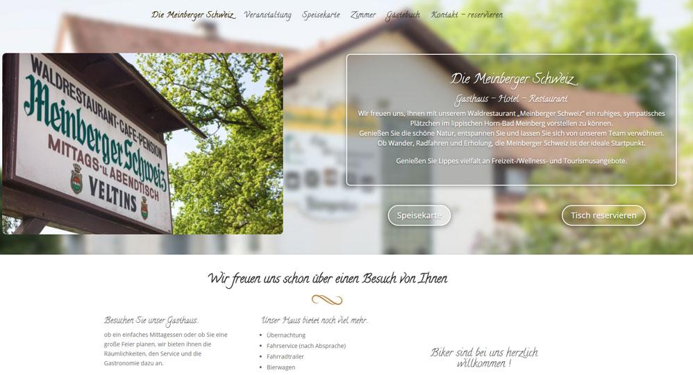 Meinberger Schweiz. Gasthaus im Herzen von Lippe