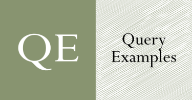 Query Examples – Query Examples For Lessons