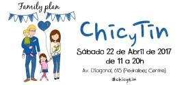 CHIC Y TIN ESTE SABADO 22 DE ABRIL EN BARCELONA EN PEDRALBES CENTRE