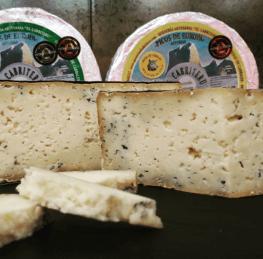 Textura de quesos de la Quesería artesanal El Cabriteru