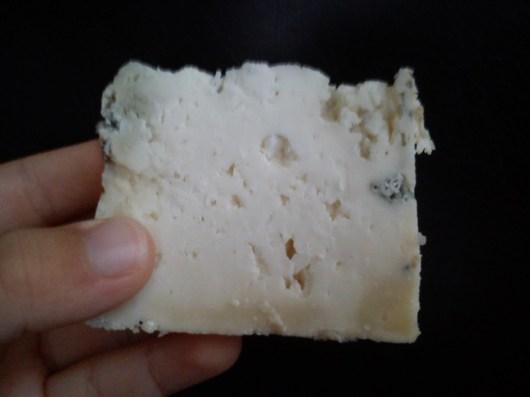 Textura queso azul de El Cabriteru elaborado en Arenas de Cabrales