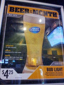 "Here's why I may never go back to Buffalo Wild Wings -- the restaurant making Bud Light as its ""Beer of the Month"" in May 2014."