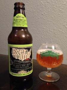 Electric Ray is an India pale lager brewed in collaboration with Ballast Point Brewing.
