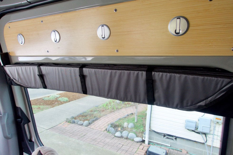 Folded up slider door cover