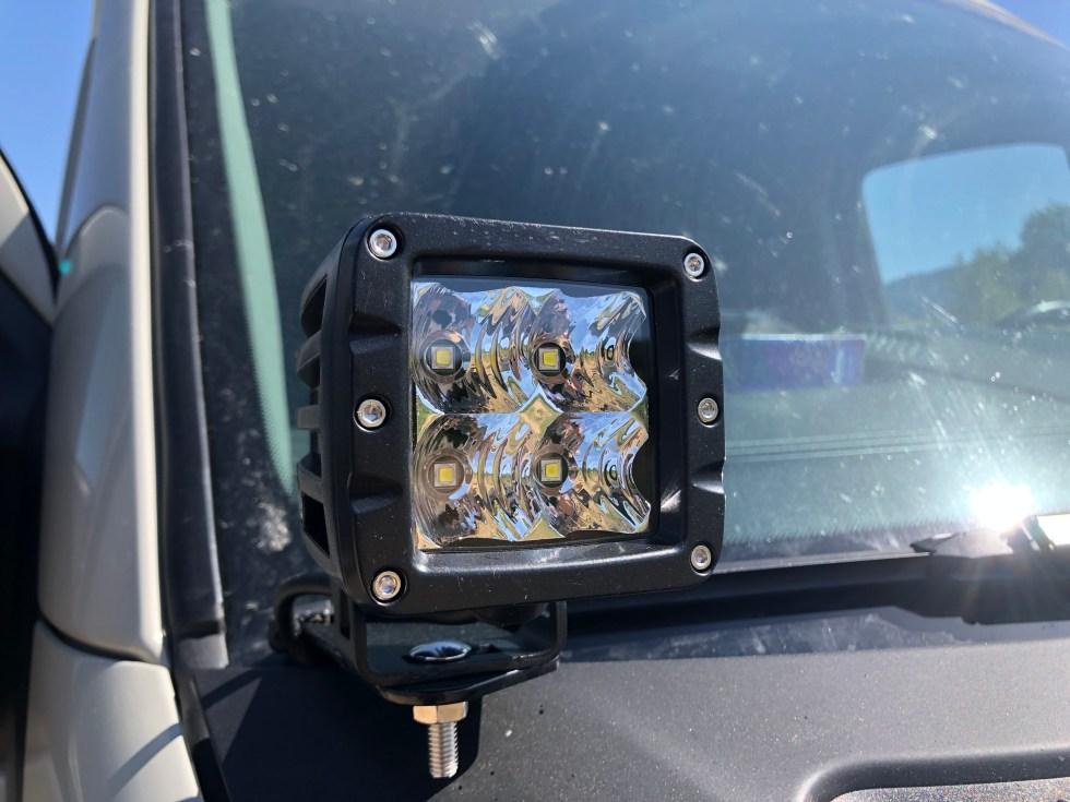 LED light pod on Sprinter van