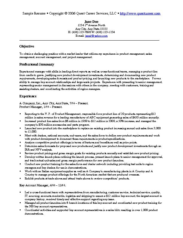 Resume For Marketing Job Objective. Sample Career Objective Resume
