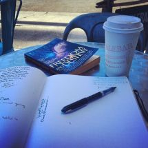 Writing and coffee, coffee and books, my oh my, a beautiful day indeed.