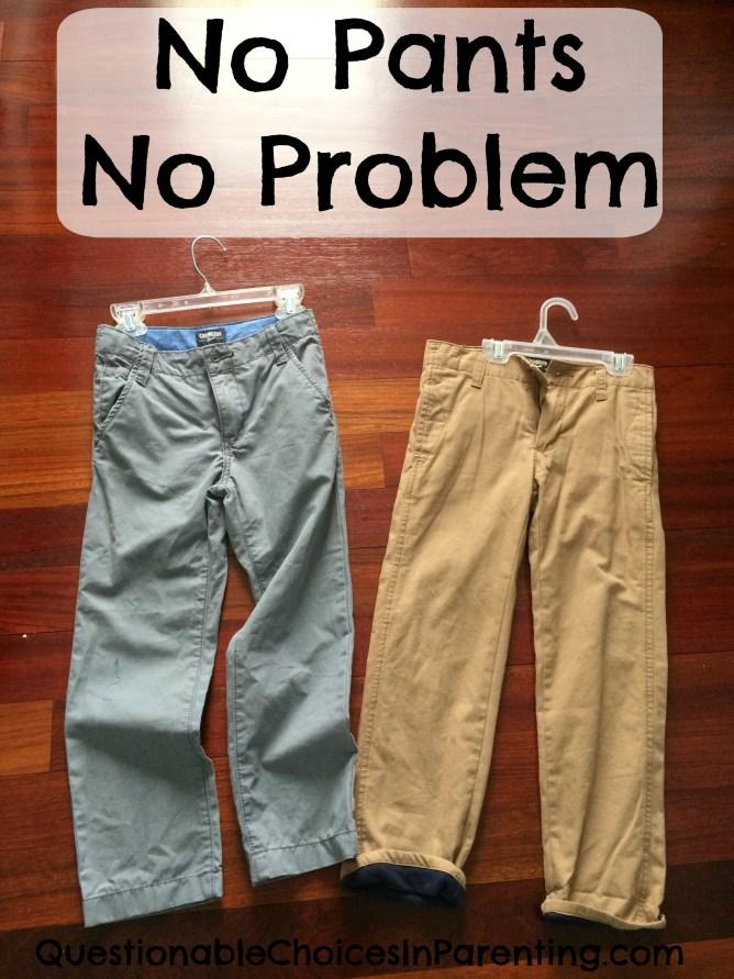 No pants No problem
