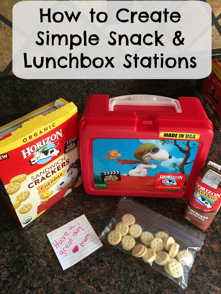 How to create simple snack and lunch box stations