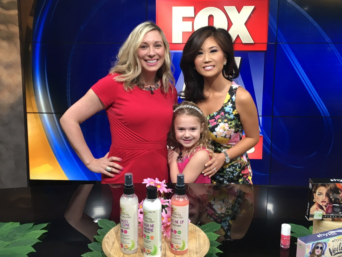 Lyla makes her Life TV Debut with me on Fox 5