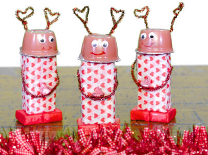 Love Bug Robots for Valentine's Day