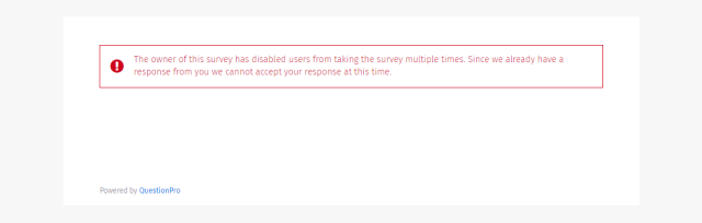 stop respondents from taking a survey more than once