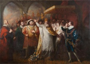 Matthew William Peters portrays the christening of Princess Elizabeth as described in the last scene of the last act of William Shakespeare's last play, Henry VIII.