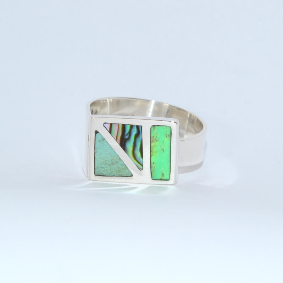 Bague Caracol Carre Boreale QUETZAL CREATION-2