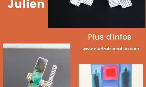 affiche Bijoux et peintures d'Anouk Julien