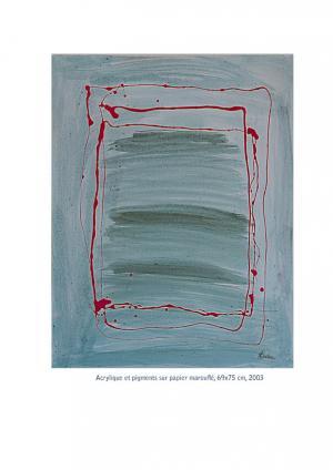 Dripping - Acrylique et pigments sur papier marouflé 69x75, 2003