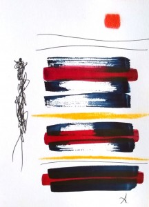 Aquarelle, stylo encre sur papier, 21x14cm 2017