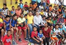 Práctica  deportiva de fútbol llega a San Carlos