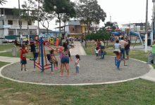 El alcalde Jorge Domínguez inauguró  el parque ubicado junto a la Casa Judicial
