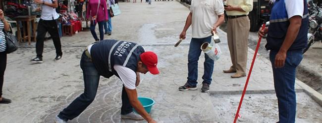 Advierten con fuertes sanciones a quienes pinten zonas regeneradas de la calle 7 de Octubre