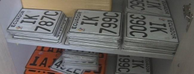 Placas de motos sin retirar de la Agencia de Tránsito Municipal de Quevedo