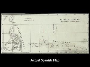 Actual Spanish Map