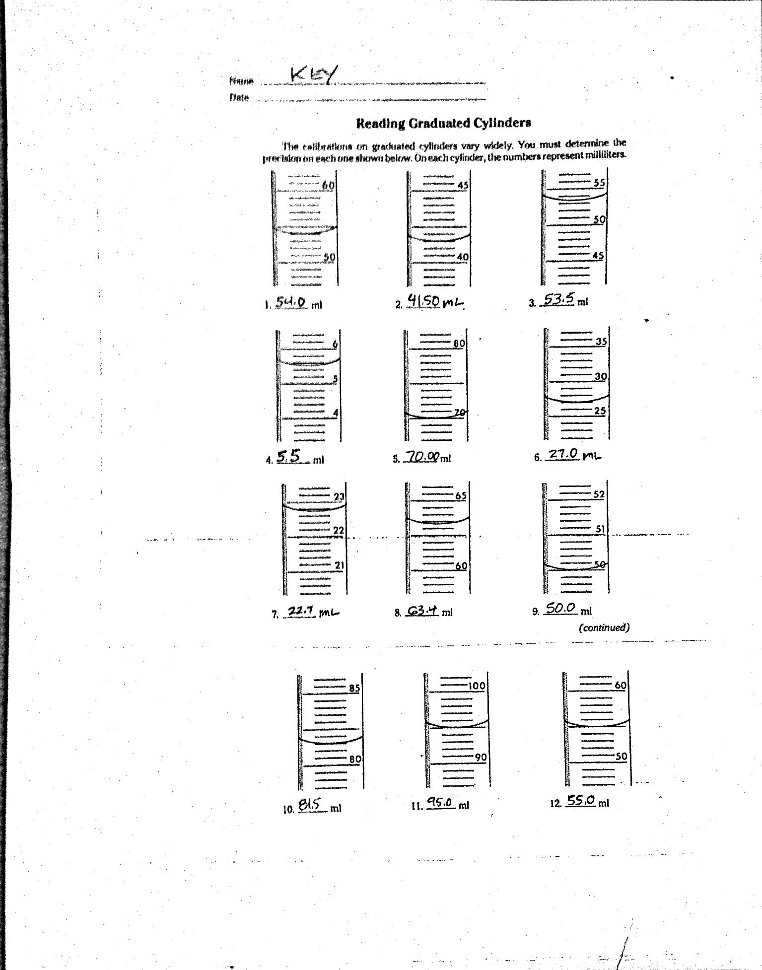 Worksheet Volume By Water Displacement Worksheet
