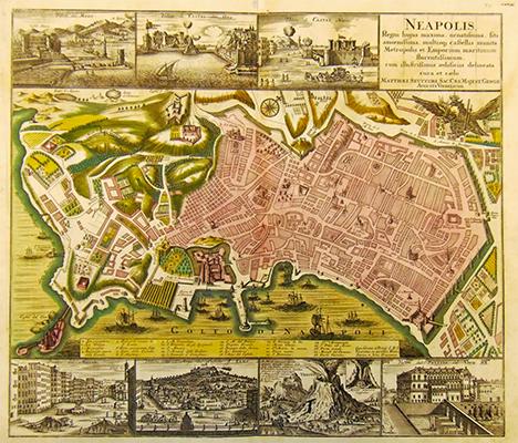 SEUTTER MATTEUS. Neapolis, Augsburg,1730 circa. Incisione in rame.