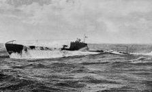 Il sommergibile Zaffiro in navigazione