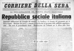 Il Corriere della Sera del 26 novembre 1943