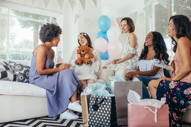 Group of women at a baby shower