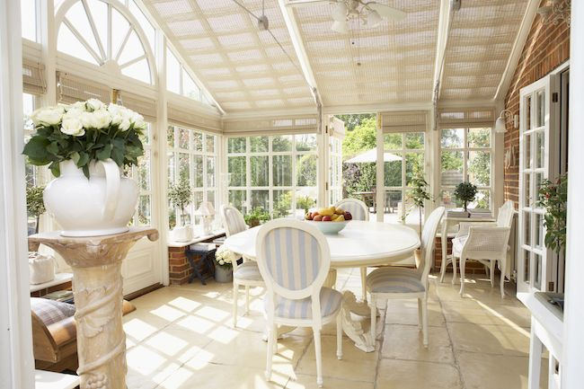 French inspired sunroom