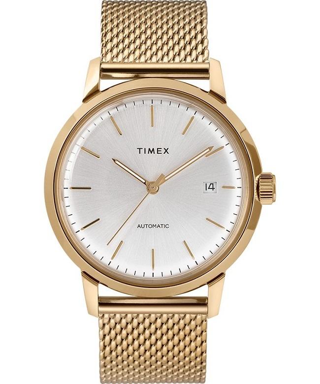 gold, timex watch