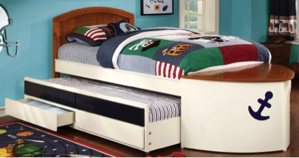 Boat-themed bed
