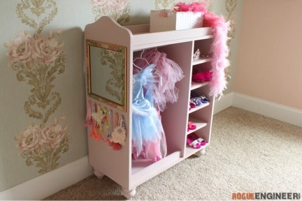 Dress-up storage center
