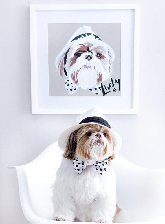 Custom portrait of a pet dog
