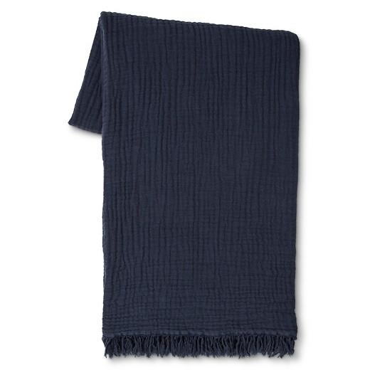 Navy throw blanket