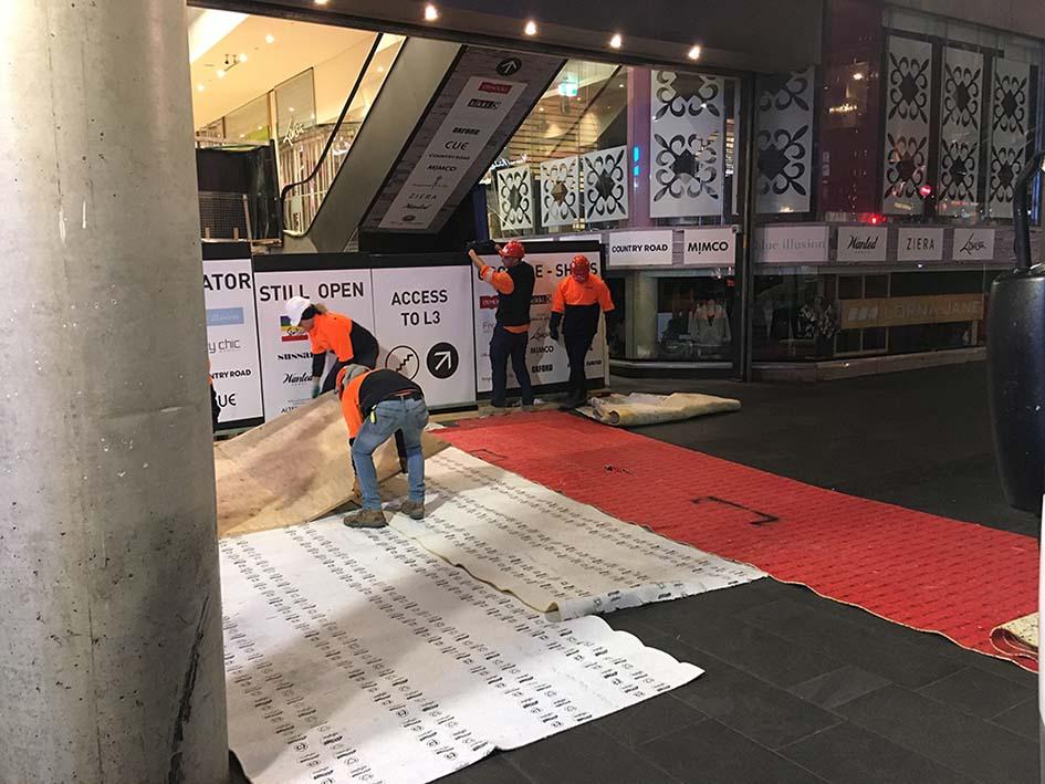 Escalator Floor Protection